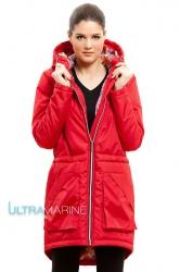 Парка для беременных, демисезонная красная Ultramarine