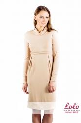 Платье для беременных и кормления, бежевый Lo-Lo dr 002.6.1