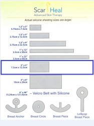 Scar FX Силиконовая пластина 7,5*12,5 см (США)