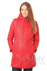 Универсальное зимнее стеганное пальто 3 в 1 красное Y@mmy Mammy 808.2.2
