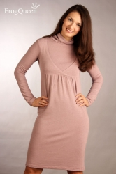 Платье для беременных и кормящих с шерстью, Щербет Frogqueen