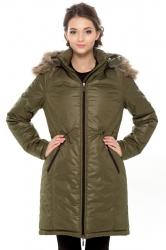 Зимняя слингопарка-пальто 3 в 1 Хаки
